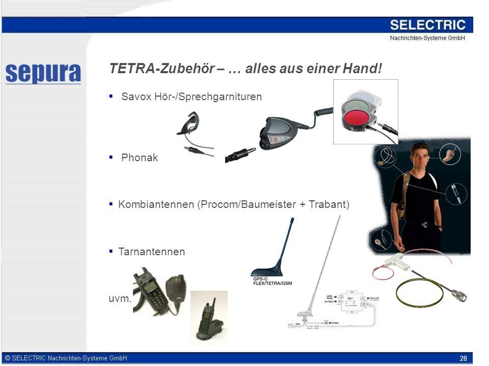 TETRA-Zubehör – … alles aus einer Hand!