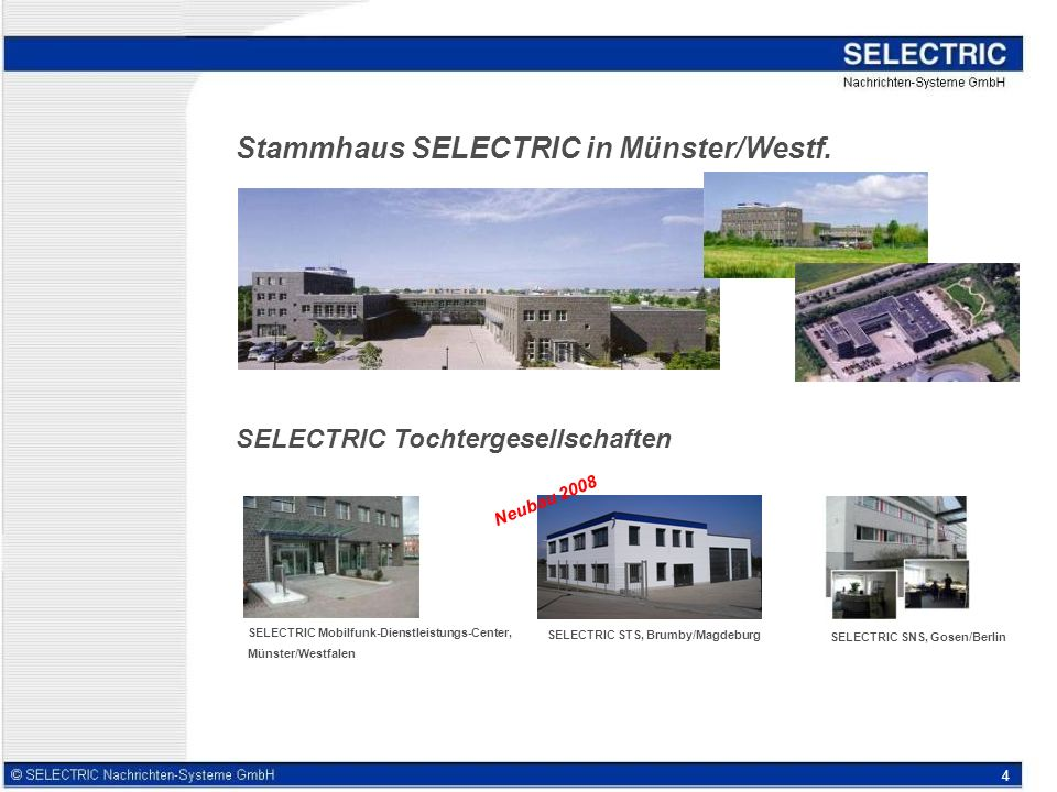 Stammhaus SELECTRIC in Münster/Westf.