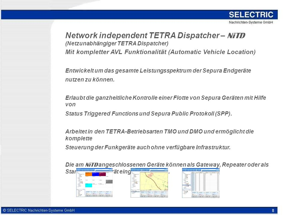 Network independent TETRA Dispatcher – NiTD