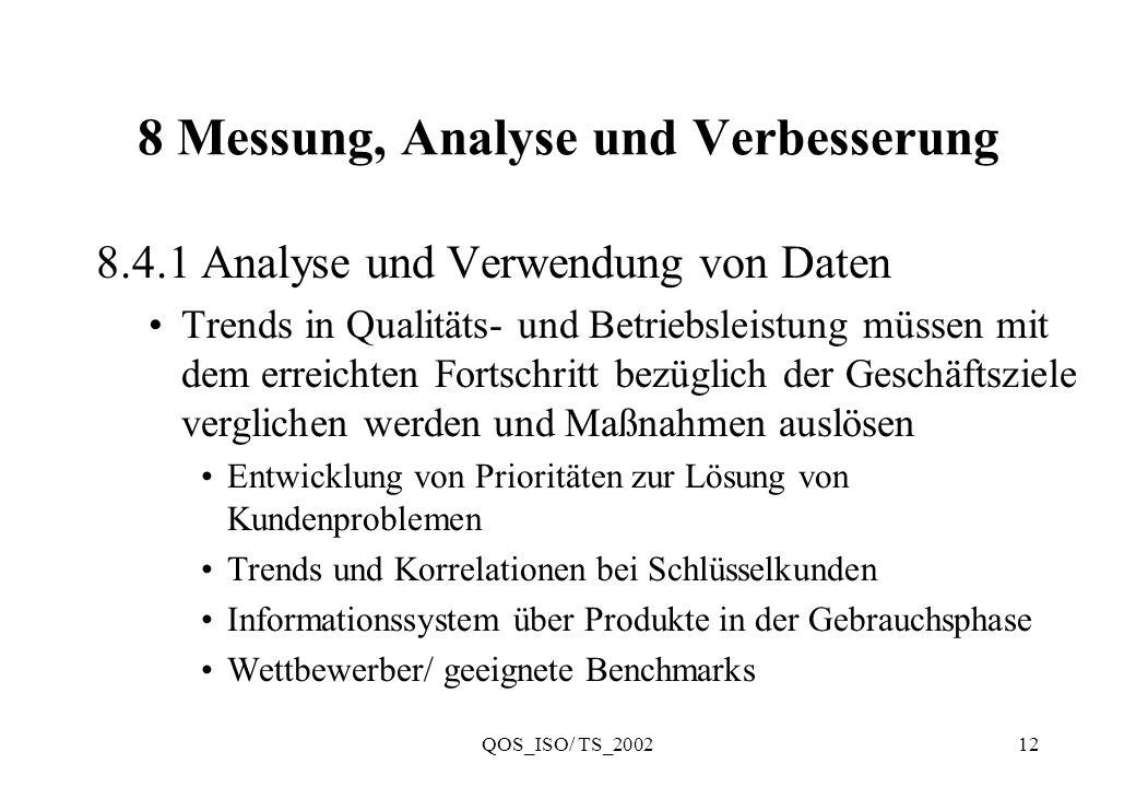 8 Messung, Analyse und Verbesserung
