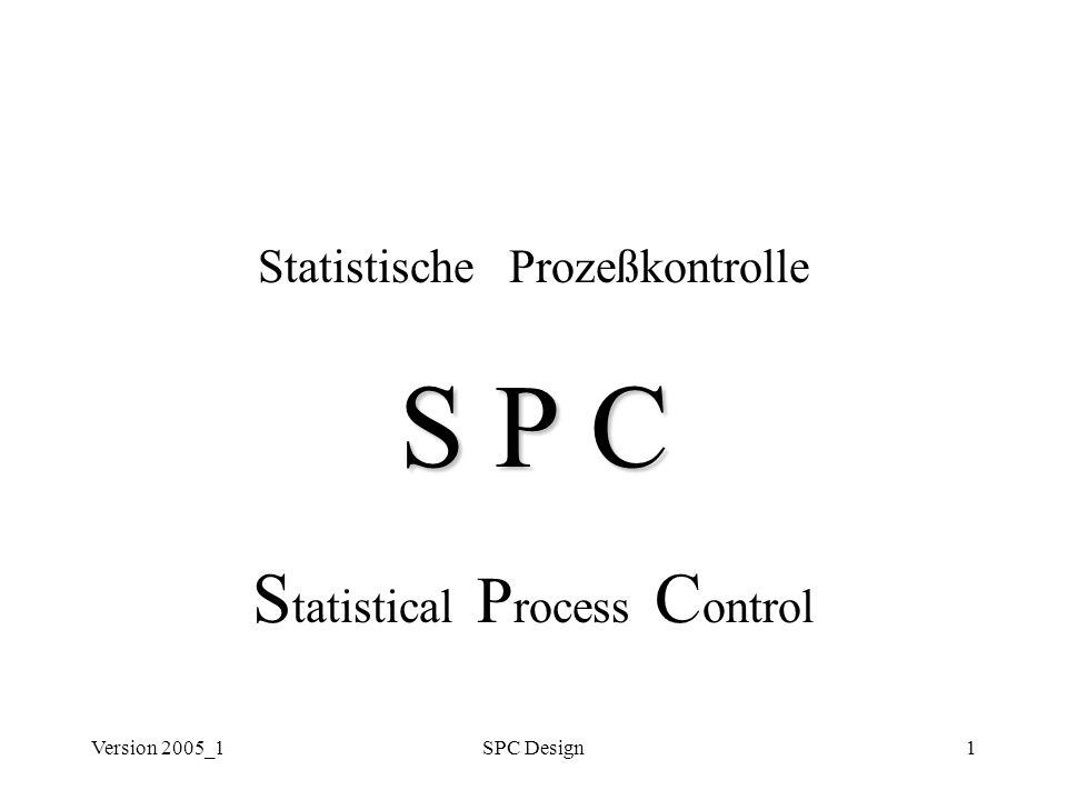 S P C Statistical Process Control Statistische Prozeßkontrolle