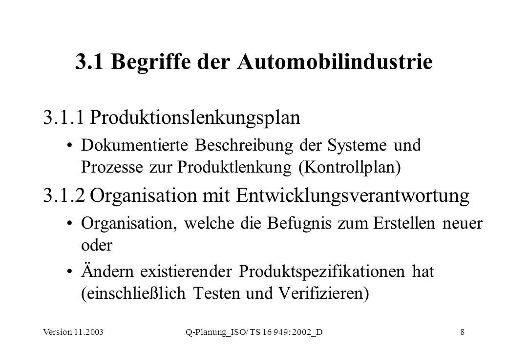 3.1 Begriffe der Automobilindustrie