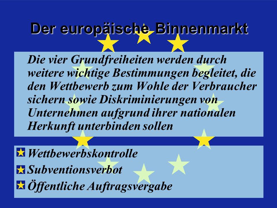 Der europäische Binnenmarkt