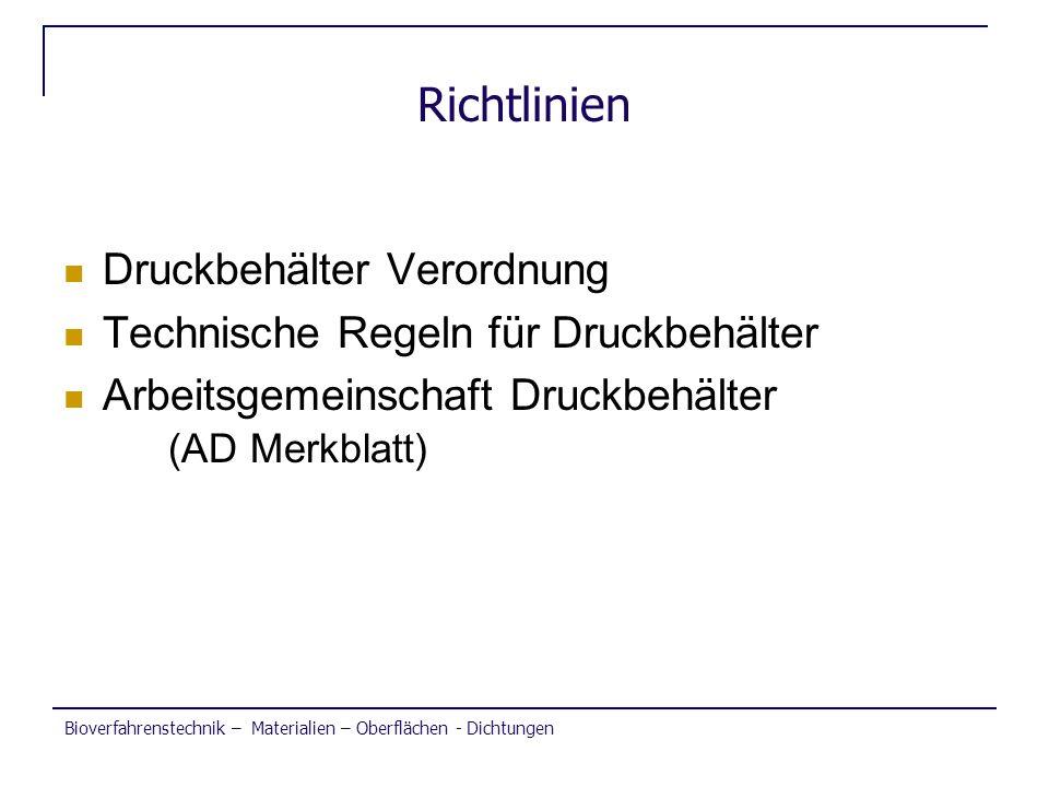 Richtlinien Druckbehälter Verordnung