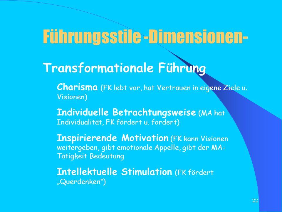 Führungsstile -Dimensionen-