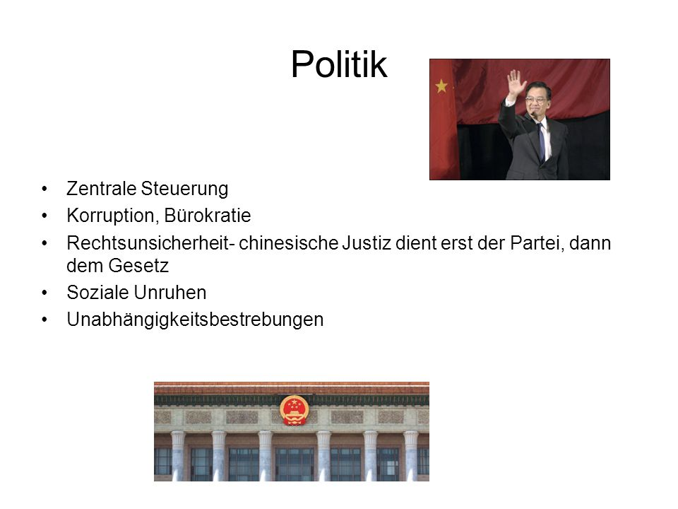 Politik Zentrale Steuerung Korruption, Bürokratie
