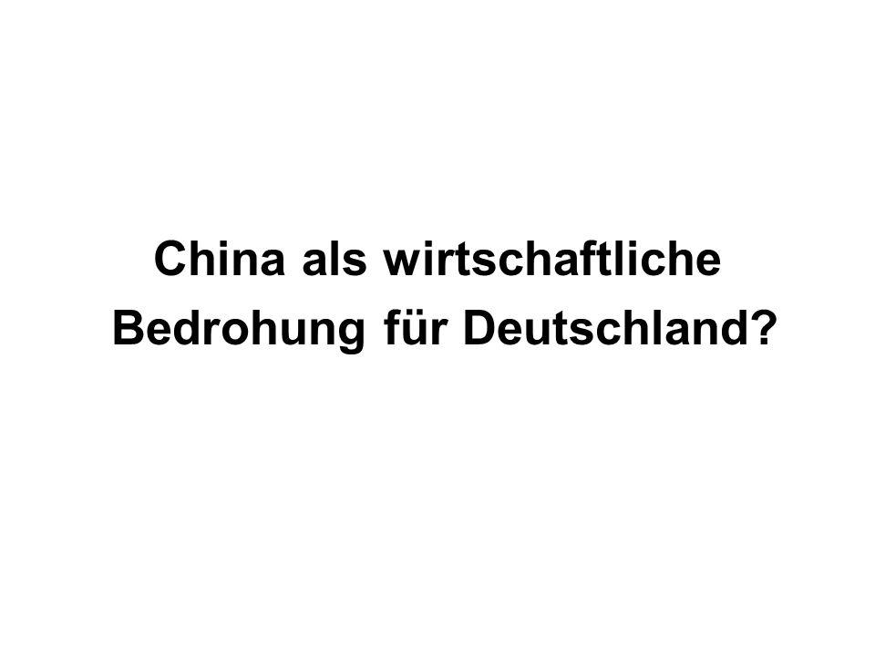 China als wirtschaftliche Bedrohung für Deutschland