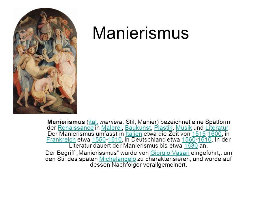 manierismus das kunstliche in der kunst