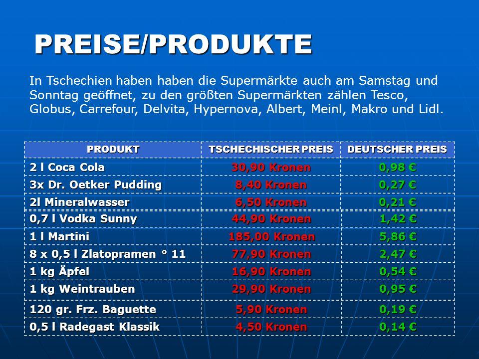 PREISE/PRODUKTE