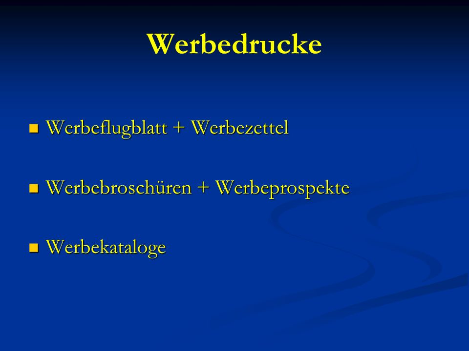 Werbedrucke Werbeflugblatt + Werbezettel