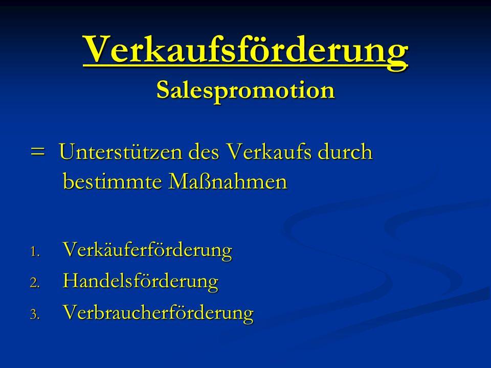 Verkaufsförderung Salespromotion