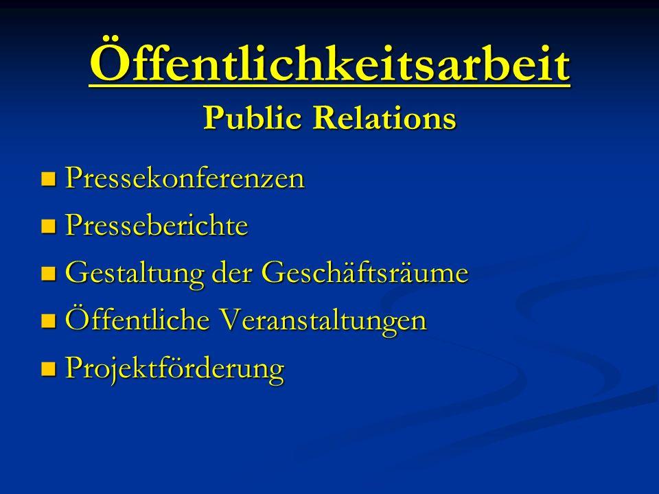 Öffentlichkeitsarbeit Public Relations