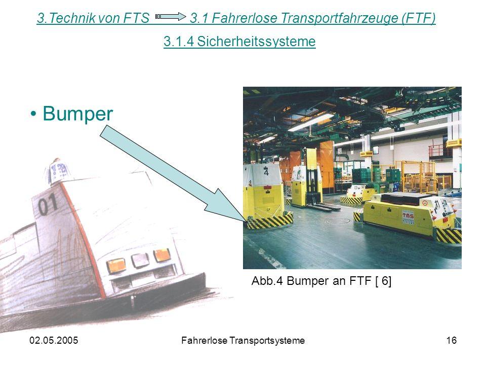 Bumper 3.Technik von FTS 3.1 Fahrerlose Transportfahrzeuge (FTF)