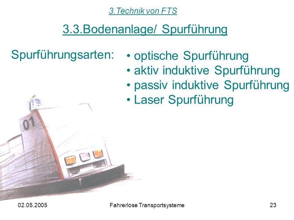 3.3.Bodenanlage/ Spurführung