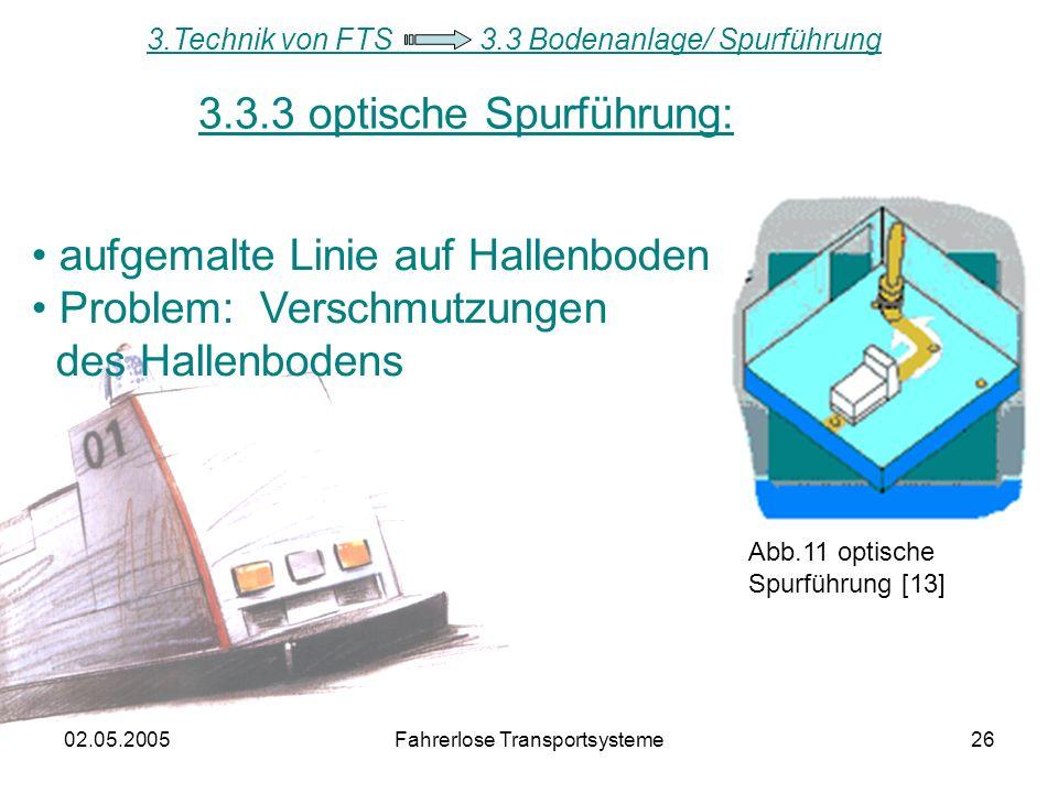 3.3.3 optische Spurführung: