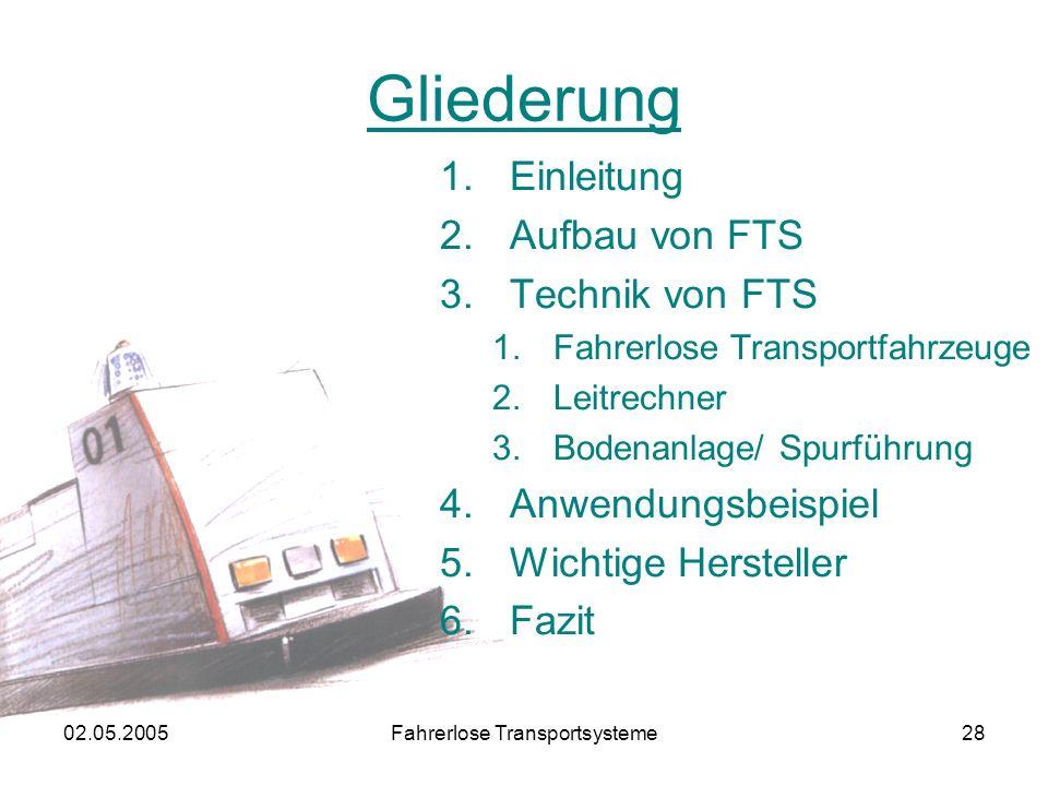 Fahrerlose Transportsysteme