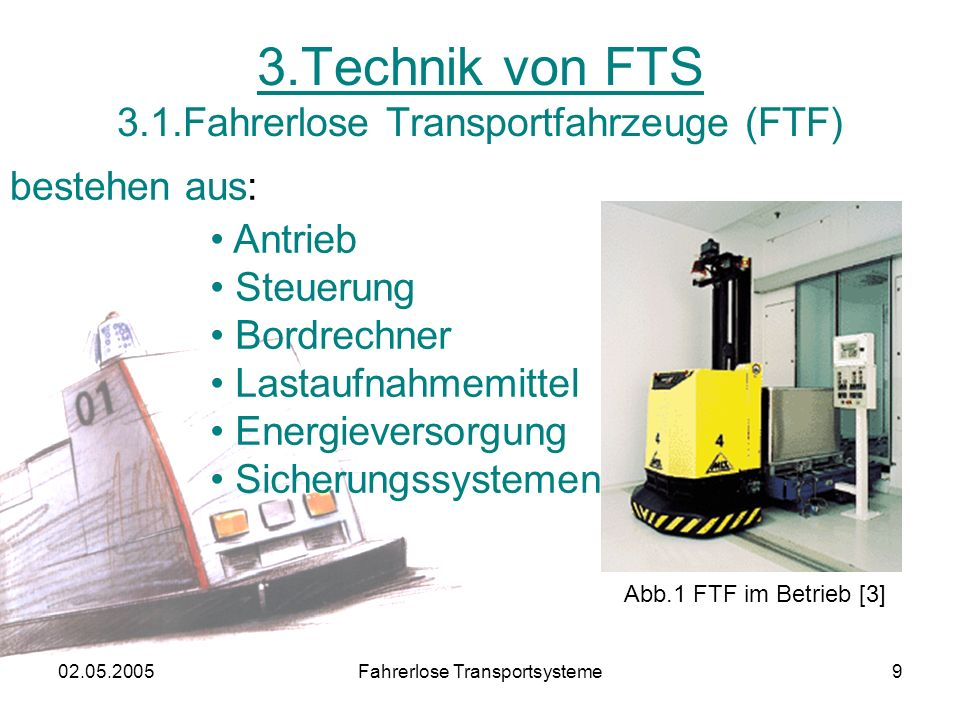 3.Technik von FTS 3.1.Fahrerlose Transportfahrzeuge (FTF)
