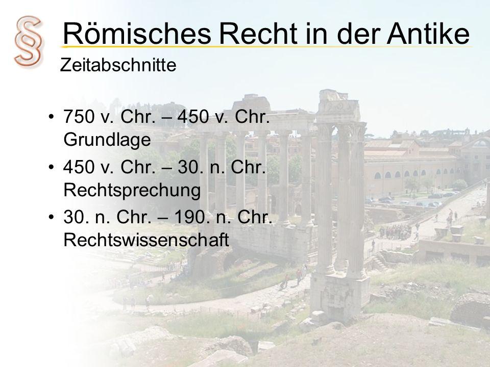 450 v. Chr. – 30. n. Chr. Rechtsprechung