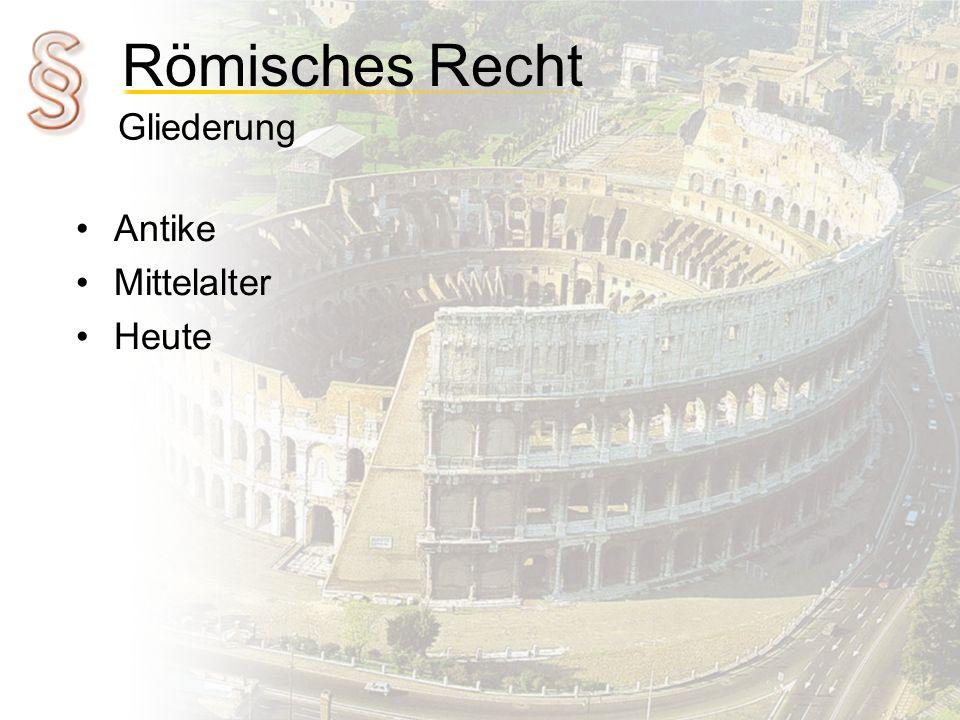 Gliederung Antike Mittelalter Heute