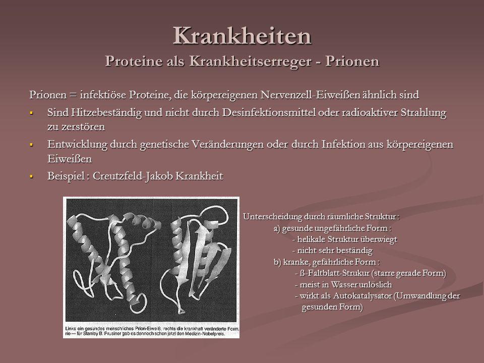 Krankheiten Proteine als Krankheitserreger - Prionen