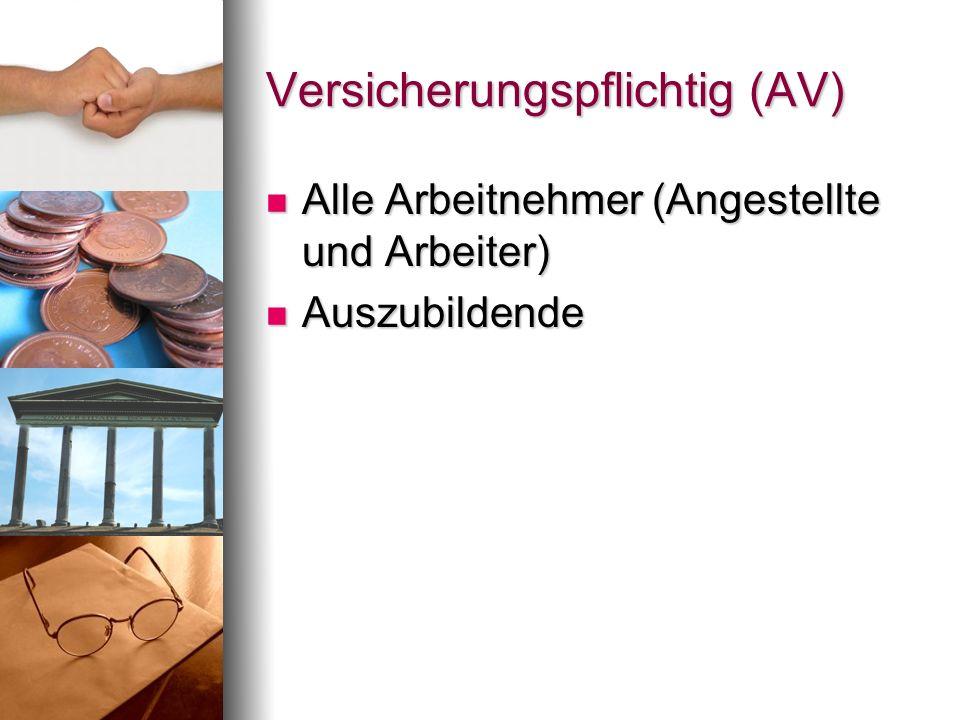 Versicherungspflichtig (AV)