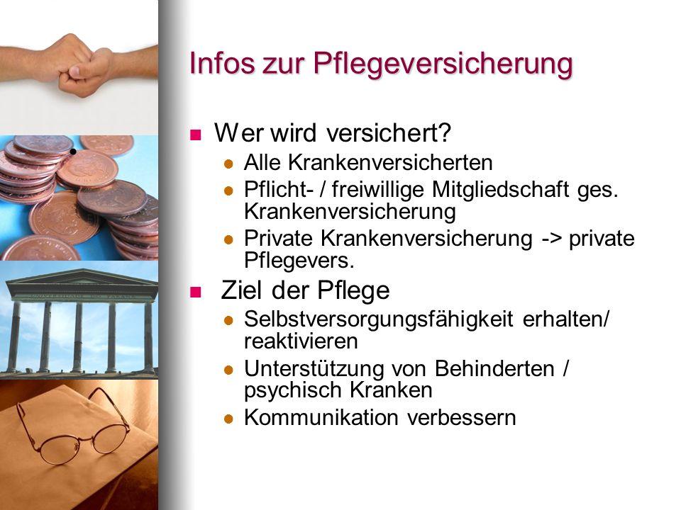 Infos zur Pflegeversicherung