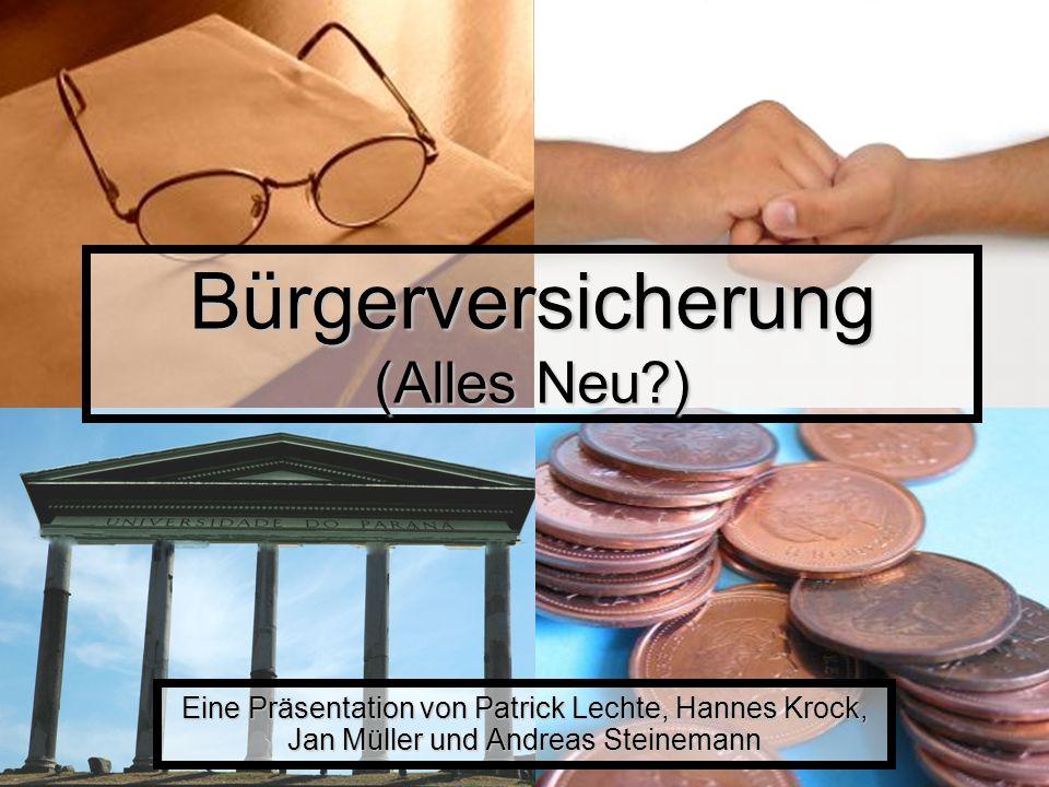 Bürgerversicherung (Alles Neu )