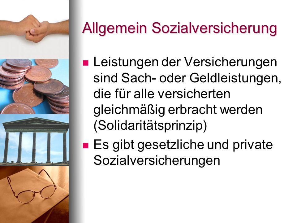 Allgemein Sozialversicherung