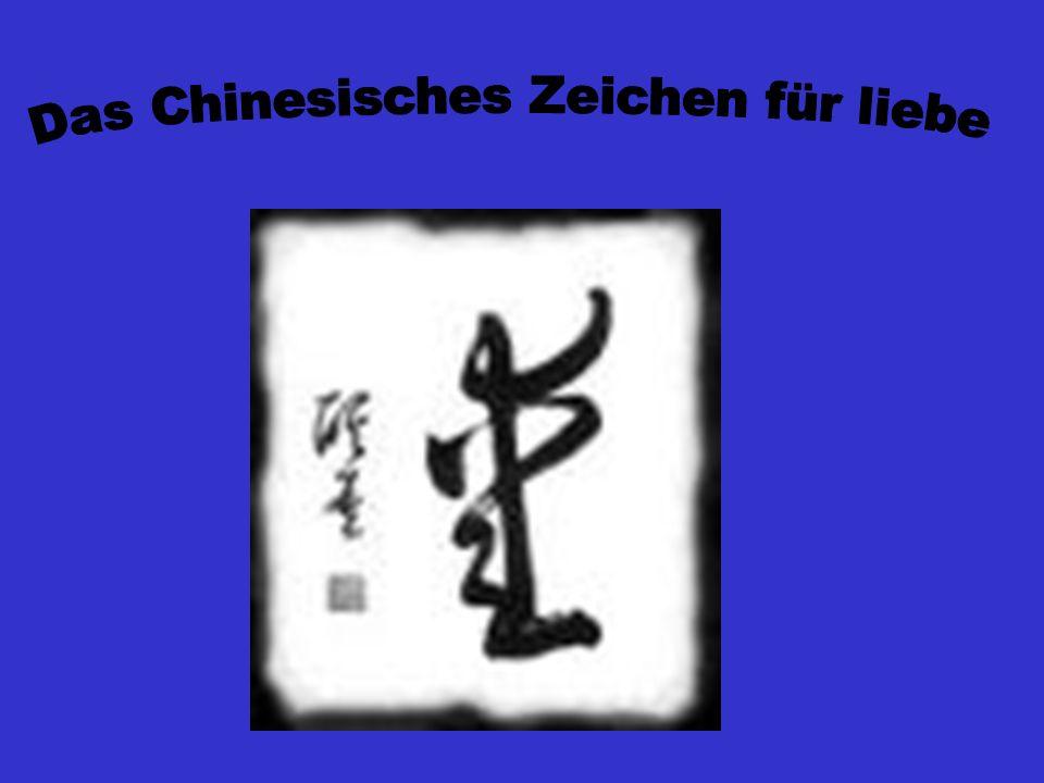 Das Chinesisches Zeichen für liebe