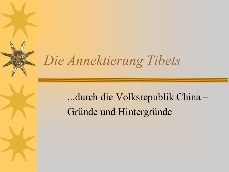 Die Annektierung Tibets