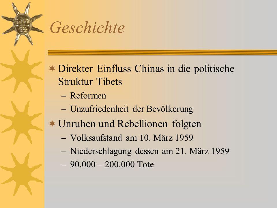 Geschichte Direkter Einfluss Chinas in die politische Struktur Tibets