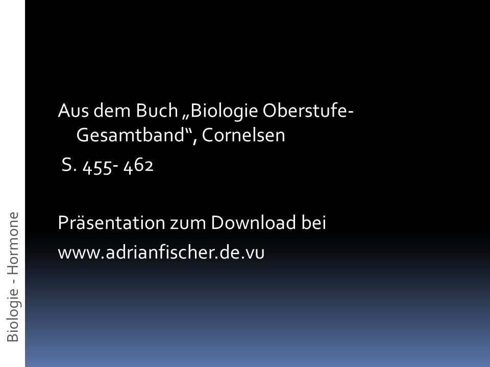 "Aus dem Buch ""Biologie Oberstufe- Gesamtband , Cornelsen S"