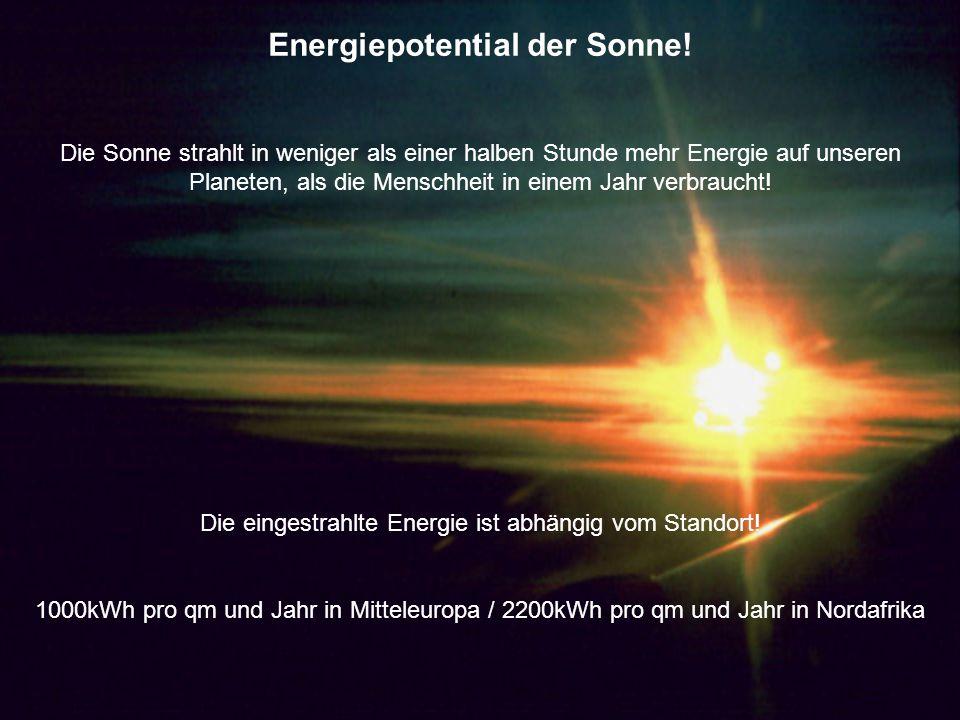 Energiepotential der Sonne!