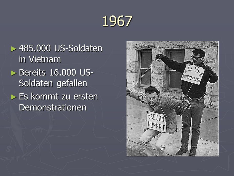 1967 485.000 US-Soldaten in Vietnam