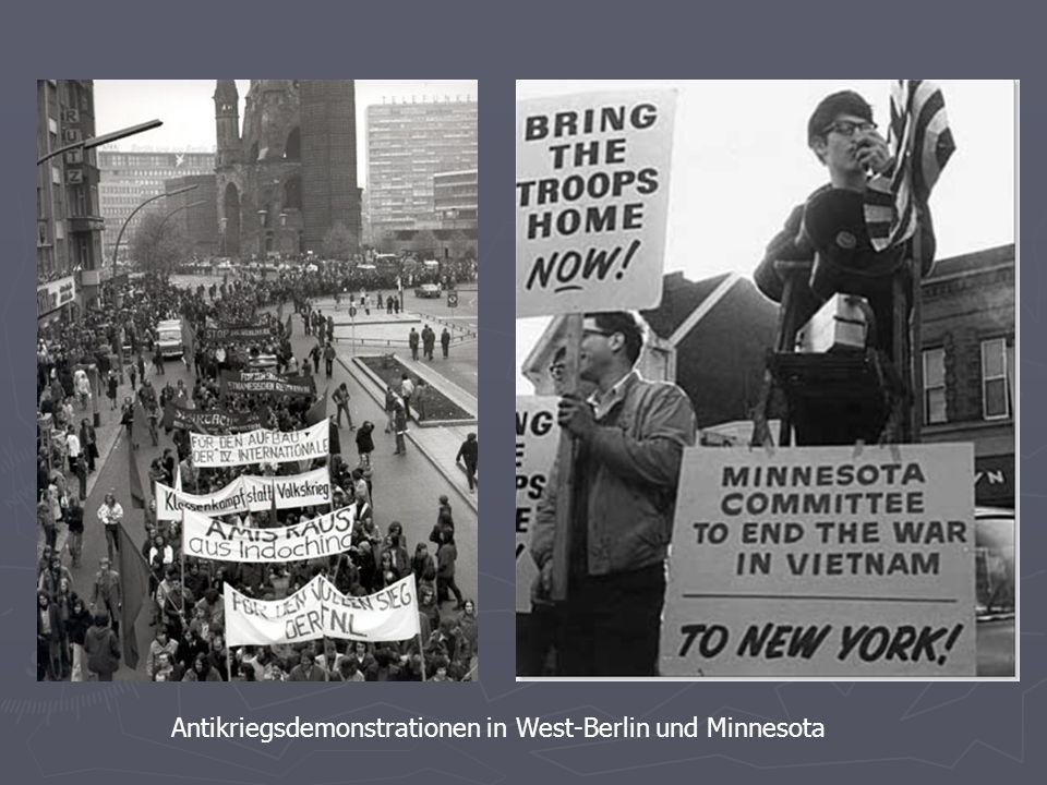 Antikriegsdemonstrationen in West-Berlin und Minnesota