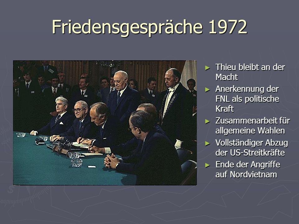 Friedensgespräche 1972 Thieu bleibt an der Macht