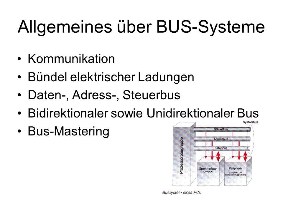 Allgemeines über BUS-Systeme