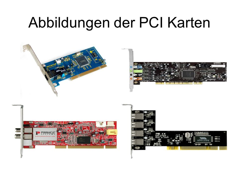 Abbildungen der PCI Karten