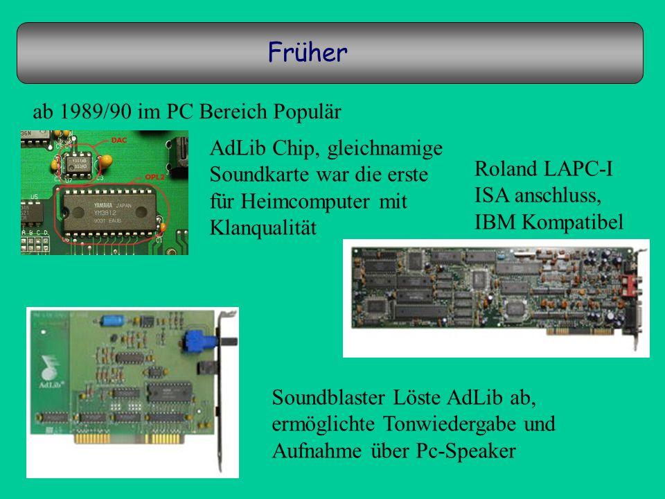 Früher ab 1989/90 im PC Bereich Populär