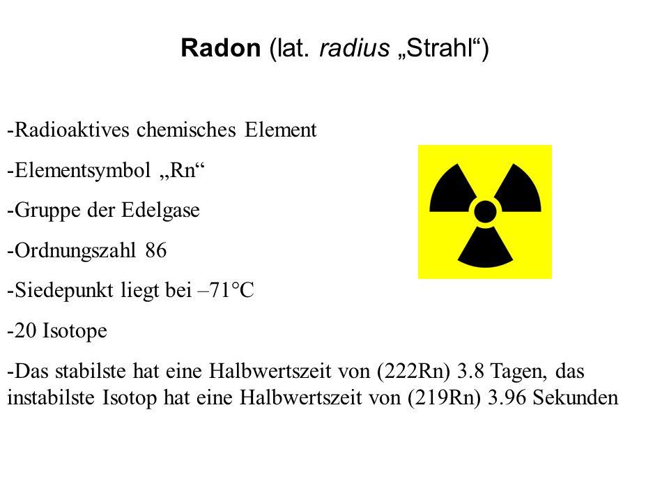 """Radon (lat. radius """"Strahl )"""