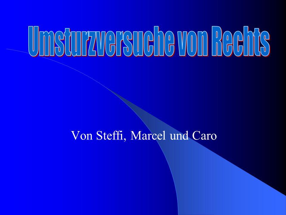 Von Steffi, Marcel und Caro