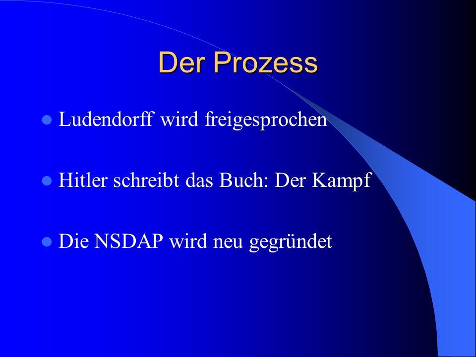 Der Prozess Ludendorff wird freigesprochen