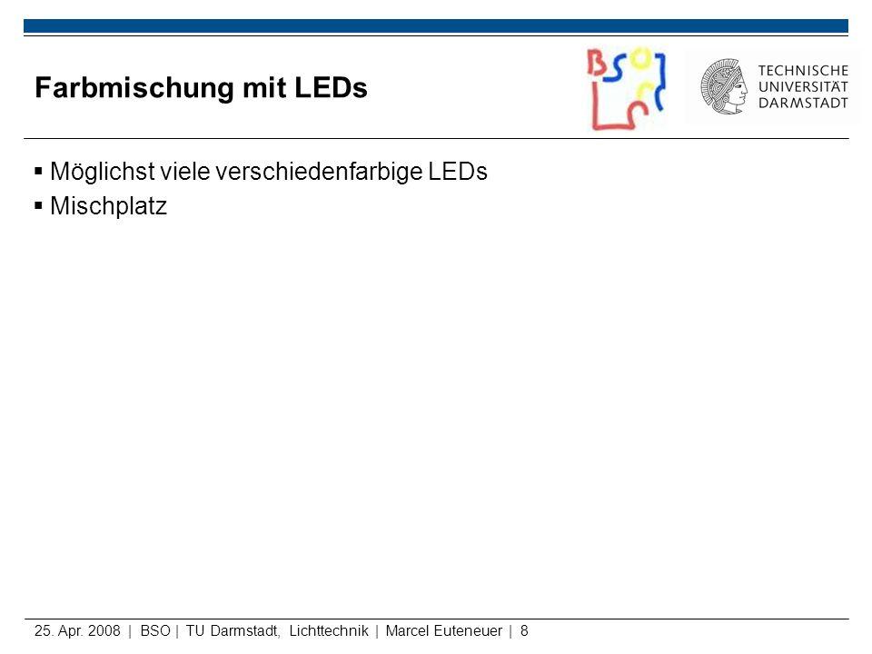 Farbmischung mit LEDs Möglichst viele verschiedenfarbige LEDs