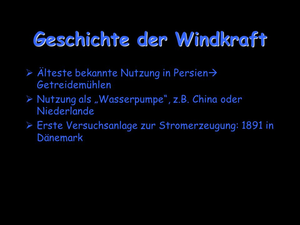 Geschichte der Windkraft