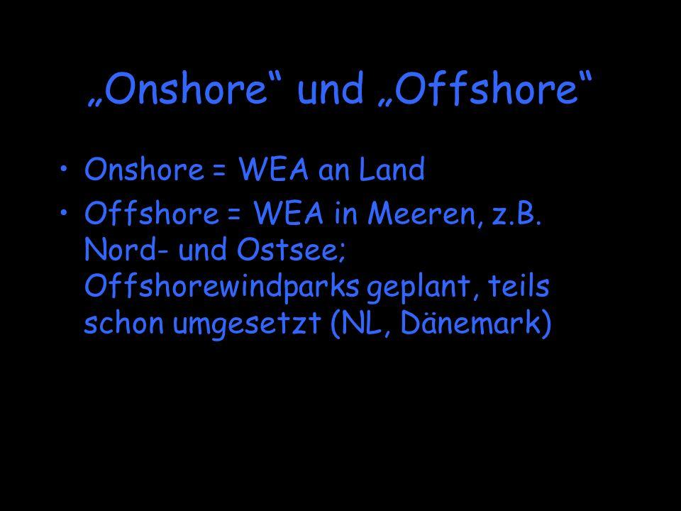 """""""Onshore und """"Offshore"""