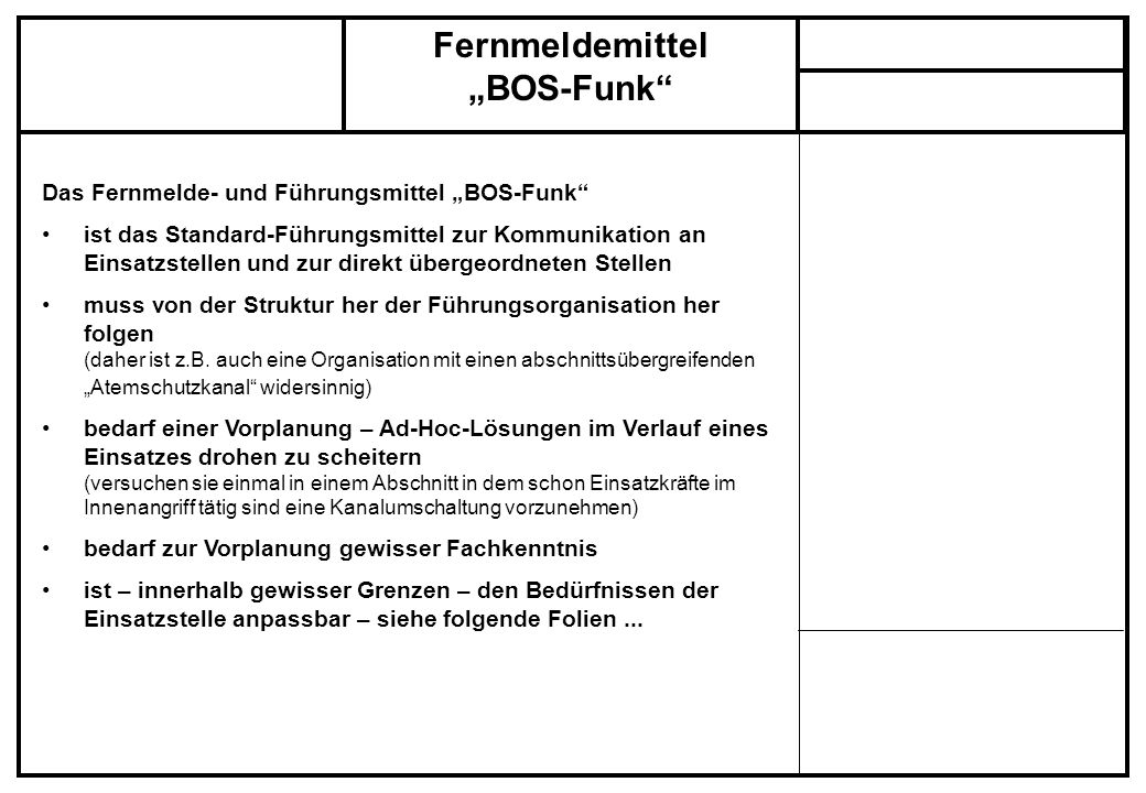 "Fernmeldemittel ""BOS-Funk"