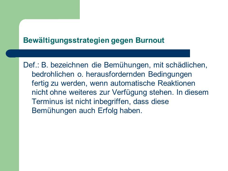 Bewältigungsstrategien gegen Burnout
