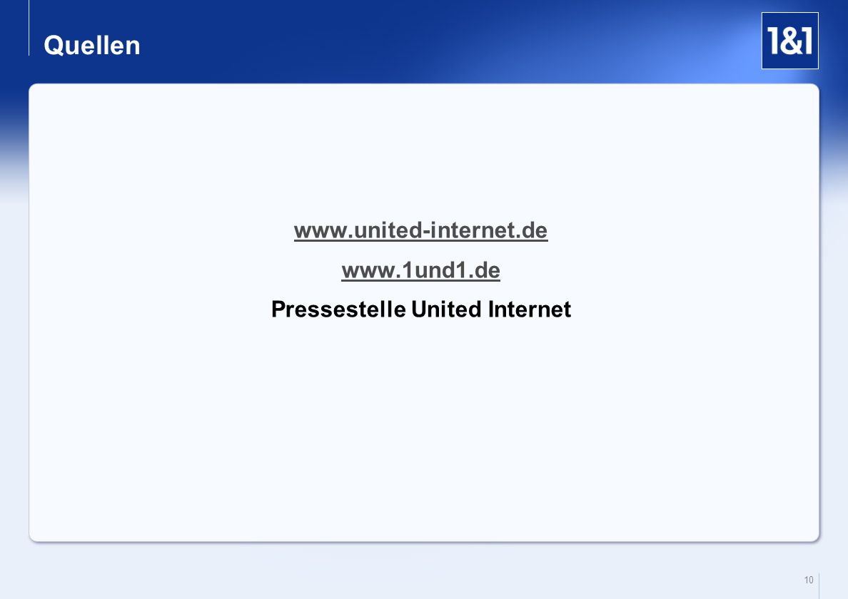 Pressestelle United Internet