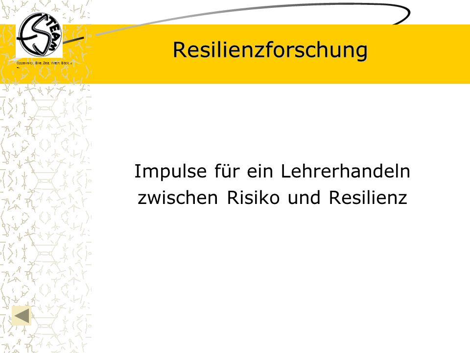 Impulse für ein Lehrerhandeln zwischen Risiko und Resilienz