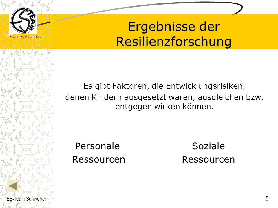 Ergebnisse der Resilienzforschung